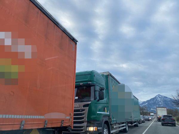 Verkehrschaos am Morgen rund um Dornbirn Nord