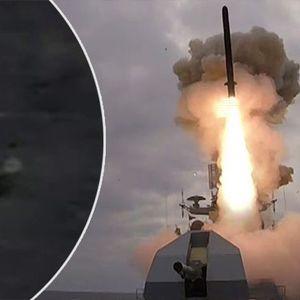 "Vežba gađanja krstarećom raketom ""Kalibar"" sa fregate ""Admiral Esen"""
