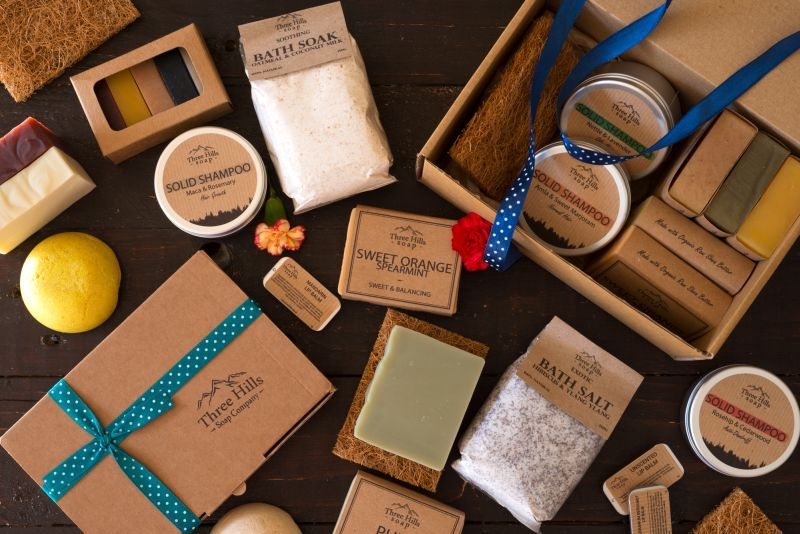 Three Hills Soap brings natural bath products