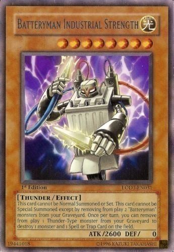Duel Links Card: Batteryman Industrial Strength