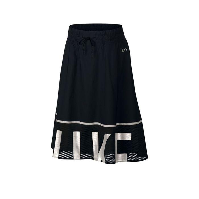 NIKE W NSW SKIRT MESH 893661-010 Μαύρο