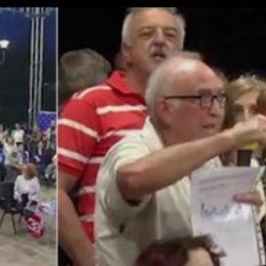 ВИДЕО: Граѓанин спречен да и постави прашање на Шекеринска во Аеродром