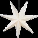Adventsstjärna vit papp 100 cm