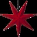 Adventsstjerne rød papir 70 cm