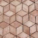 Terrakottagulv romb