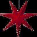 Adventsstjerne rød papir 100 cm