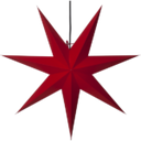 Adventsstjerne Rød Papp 70 cm