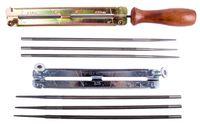 Напильники и станки для заточки цепей