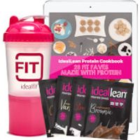 IdealLean x4 Protein Sample Packs, Free Shaker and 28 Protein Recipe e-Book - Child