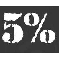 Rich Piana 5% Nutrition Window Decal