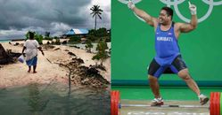 2020東京奧運「吉里巴斯」舉重選手搞笑跳舞背後有洋蔥!真相是國家正在消失...懇求世界關注