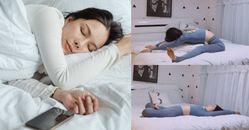 失眠數綿羊數不完?小紅書專家親授4招「床上瑜珈伸展」,10分鐘運動讓你一覺到天亮