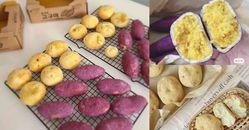 韓國超火「紫薯麵包」在家也能做!地瓜餡口感不輸芋泥,完美還原首爾街頭小吃!