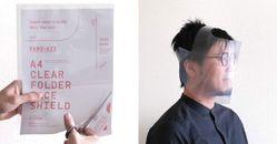 防疫面罩DIY自己做!只要一張A4透明資料夾,日本設計師教你30秒做出「拋棄式防疫面罩」