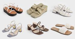 Charles & Keith方頭涼鞋推薦Top10!夾腳拖鞋、時髦厚底...線上購物全部2000元有找!