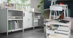 Ikea「辦公室收納」推薦Top5!「Trotten推車」當書桌、當櫃子都好用,北歐風純白色系就愛高顏值