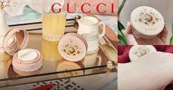 Gucci獅子氣墊粉餅太夢幻!粉紅奶昔外殼比護手霜還輕,奶油妝效拍出水嫩果凍肌