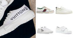 精品小白鞋推薦Top10!Dior、Celine、Prada...「LV」這雙厚底增高真的太吸睛