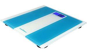 Inicio Canwelum - Bascula de baño digital de precisión, Báscula baño digital - Pantalla LCD luz de fondo azul y sólida plataforma de cristal templado (azul) guía del comprador