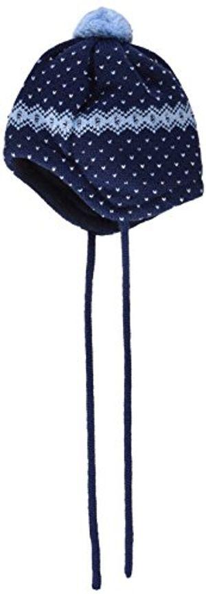 deals for - maximo baby jungen mütze mit pompon und bindeband mehrfarbig navycerulean 4821 47