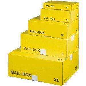smartboxpro versandkarton mailbox s 255x185x85mm gelbanthrazit