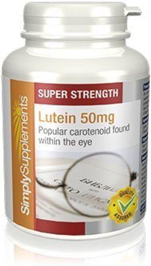 ofertas para - luteína 50 mg 180 cápsulas hasta 6 meses de suministro contra el daño macular degenerativo para la salud de los ojos simplysupplements