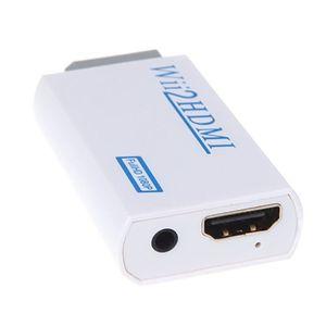 kobwa hdmi konverter adapter für wii an hdmi wii2hdmi 1080p 720p full hd tv audio mit hdmi anschluss 35 mm stereo audio buchse weiß