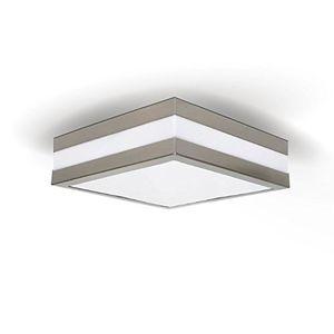 deals for - provance ip44 e27 decken wandleuchte deckenlampe wandlampe für led esl quadratisch 2x e27 led 6w 300lm warmweiß gratis