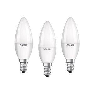 Cheap osram led base classic b lampe in kerzenform mit e14 sockel nicht dimmbar ersetzt 40 watt matt warmweiß 2700 kelvin 3er pack