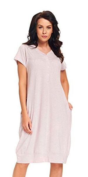 dn nightwear dn nachthemd tm9300 pink grey gr xxl