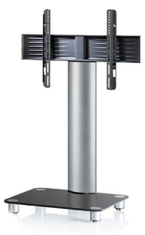 Angebote für -vcm tv standfuß led halterung ständer fernseh standfuss alu glas universal silber vesa mobil rollen tosal