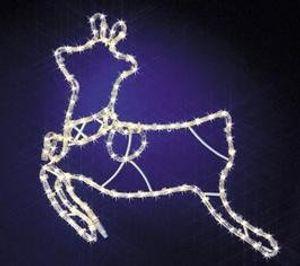 deals for - led lichtschlauch rope light silhouette outdoor indoor extra bright bruchfester kunststoff ideal als stimmungsvolle weihnachtliche beleuchtung mit warm weissen led ein absoluter blickfang für den innen und außen bereich aus dem kamaca shop rentier 45x55 cm