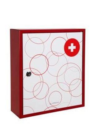 Hot Arregui  BT001-1 - Botiquin, acero decorado,  llave de serreta, 100x315x360mm, Blanco/rojo Mejor oferta
