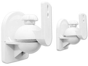 photos of 2 Stück (1 Paar) Universal Lautsprecherhalterung Wandhalterung Boxen Lautsprecher (passt Für Z.B. Teufel, Bose, Yamaha, Bosten) Befestigung Halter Weiß Modell: BH4W Vergleich Kaufen   model CE