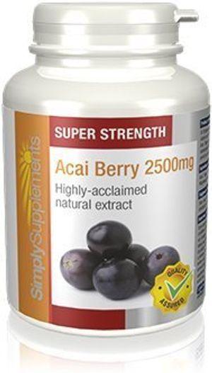 Buy Bayas de Acai 2500mg - 240 cápsulas - Suficiente para 4 meses - Para la salud general y la pérdida de peso - Rico en polifenoles - SimplySupplements Mejor compra