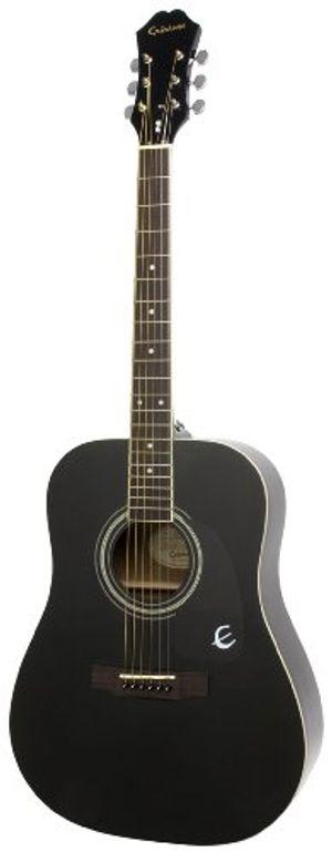 epiphone dr 100 dreadnaught akustik gitarre ebenholz lack mahagoni korpus ausgewählte fichtendecke 255 mensur palisander griffbrett