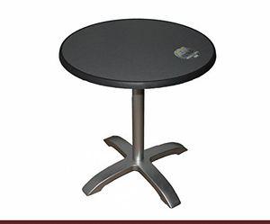 Top bistrotisch alugestell silber abklappbar sevelit tischplatte 70 cm rund dekor puntinella wetterfest außen tisch