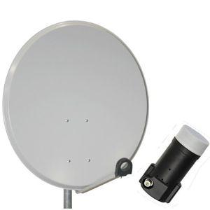 deals for - 100cm digitale sat anlage antenne spiegel schüssel in hellgrau single lnb fullhd edision 01db für 3d hd hdtv fullhd neu