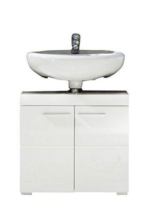 deals for - trendteam 1393 301 01 badezimmer waschbeckenunterschrank unterschrank amanda 60 x 56 x 34 cm in weiß hochglanz mit viel stauraum und pflegeleichten tiefzieh hochglanzfronten