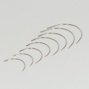 Buy set 8 gebogene nadeln polsternadeln nähnadeln sattlernadeln rund leder 35 40 50 und 60 mm leder nähen stahl nadel