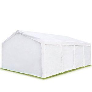 deals for - hochwertiges partyzelt 4x8m pavillon ohne fenster lagerzelt 240gm² pe plane gartenzelt weidezelt unterstand weiß