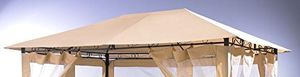Cheap ersatzdach zu gartenpavillon antik pavillon partyzelt 3x4m sand
