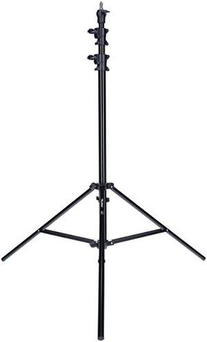 deals for - rollei profi lampenstativ 285 cm robustes aluminium lampenstativ für studioblitze höhenverstellbar zwischen 125 285 cm inkl stoßdämpfung schwarz