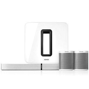 Buy sonos 51 heimkino set l system mit einer playbase einem sub und einem paar play1 weiß