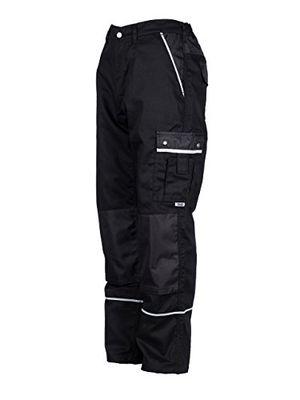 Buy tmg® herren bundhosecargohose mit kniepolstertaschen strapazierfähig schwarz w36 r eu52