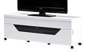 deals for - jahnke cu libre tv 140 hg ws tv lowboard e1 holzwerkstoffplatten beschichtet hochglanz weiß 140 x 40 x 50 cm