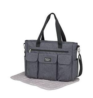 Pirulos 48131930  - Bolso, diseño denim, 49 x 35 x 13 cm, color gris ofertas Especiales