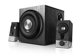 edifier m3600d 21 home entertainment system 200 watt mit thx zertifizierung und digital und analogeingängen schwarz