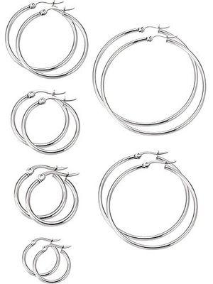 Angebote für -6 paare edelstahl ring ohrringe set ohr hoop rund ohr ringe set 6 größen