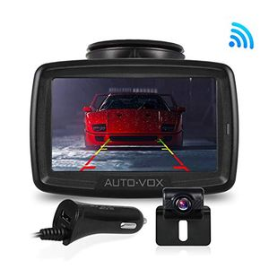 deals for - auto vox w2 kabellos digital rückfahrkamera set mit eingebautem funksender wireless einparkhilfewasserdicht ip68 backup autokamera 43 zoll lcd monitor nachtsicht für suvbuskfzanhänger pickup